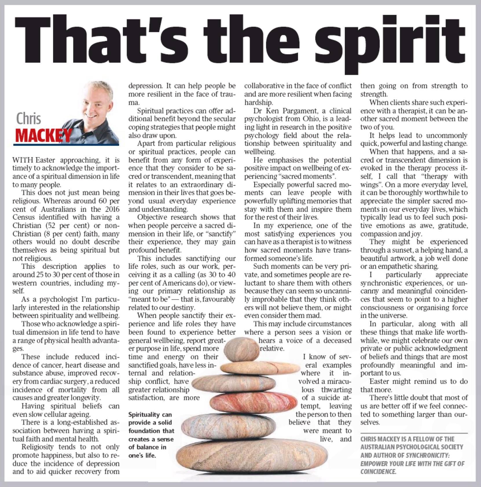 An by Geelong psychologist, Chris Mackey