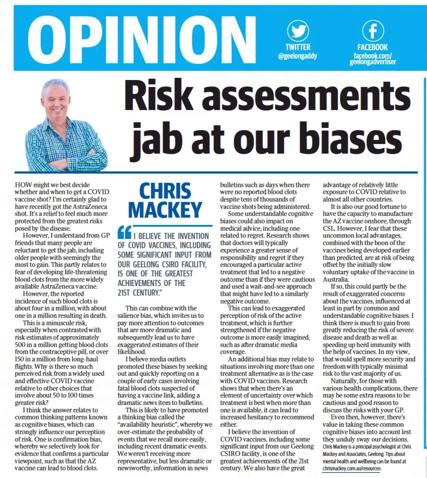 an article by chris mackey